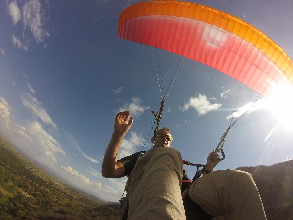 Me paragliding at Manyara, Tanzania   DCIM\100GOPRO   Geoffrey