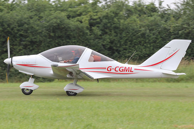 G-CGML - 2010 build TL Ultralights 2000 Sting Sport, departing from Runway 08 at Stoke Golding during the 2013 Stakeout