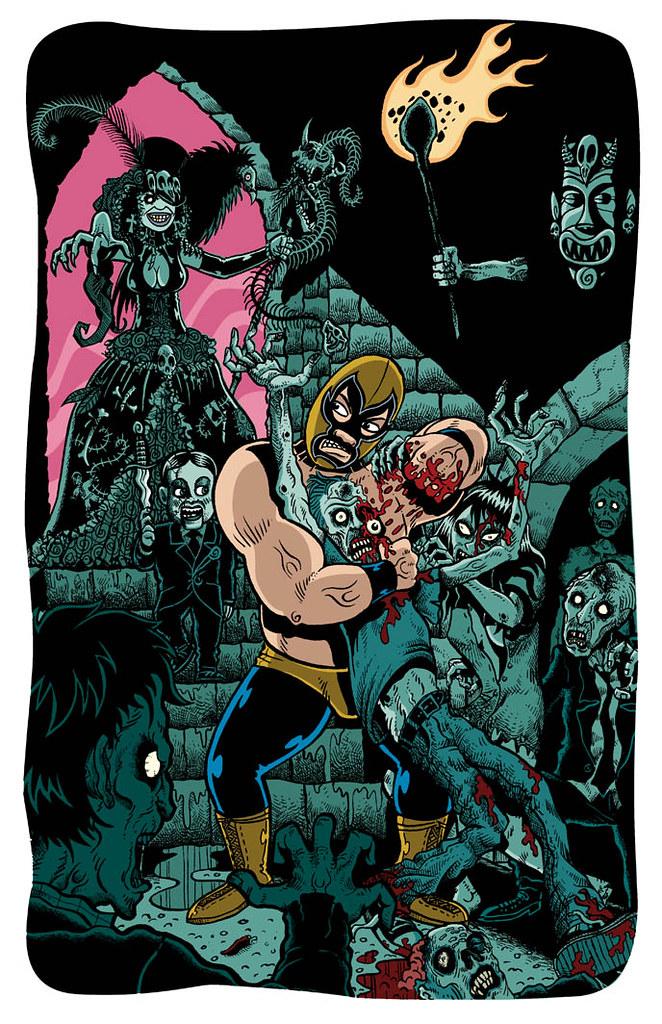 El Sombra de Oro contra la Reina Zombie