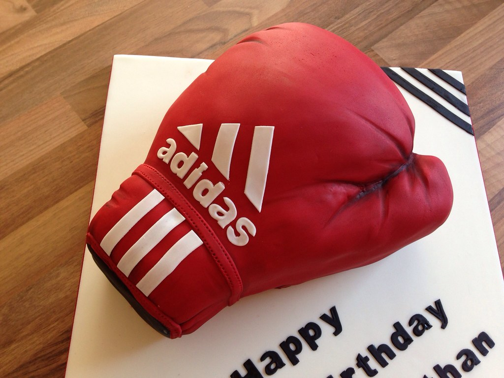 Sensational Boxing Glove Birthday Cake Charlie Sellers Flickr Funny Birthday Cards Online Hendilapandamsfinfo