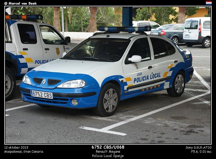 Spanish Police - Renault Megane (6752 CBS) | Renault Megane