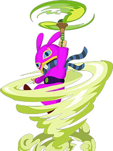 Ravio demonstrando o tornado rod