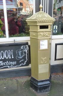 Sophie Wells London 2012 Olympics Gold Postbox Christmas Market Lincoln Dec 2013 B