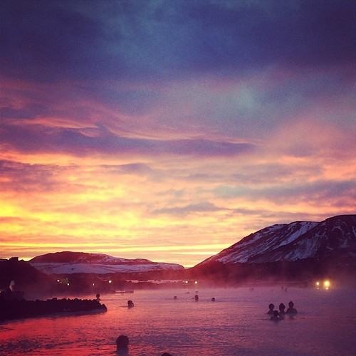 blue beautiful sunrise square iceland lagoon squareformat bluelagoon amaro iphoneography instagramapp