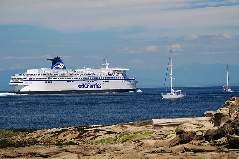 BC Ferry off Georgina Point, Mayne Island, heading to Vancouver, British Columbia (Tsawwassen)