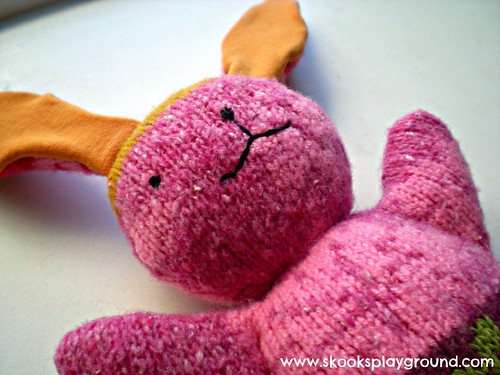 Mooshy Belly Bunny Detail