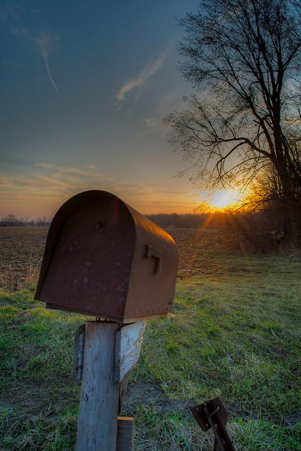 April Sunrise in Alger Ohio