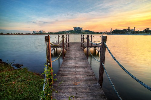 sunset lake reflection sunrise nikon jetty calm malaysia putrajaya hdr d600ariefrasa
