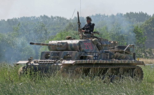 Panzer III replica moves up - lightened