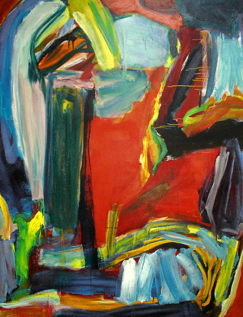 1993 The Magic Wood Abstract Expressionist Painting O