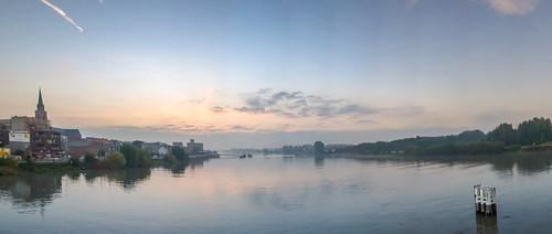panorama color water sunrise river prime town belgium pano boom 12mm stitched stich rupel gf1 mygearandme mygearandmepremium mf43