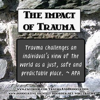 The Impact of Trauma - as explained by the APA - more info on http://ift.tt/18TaztU Like -> http://ift.tt/14jC11R or http://ift.tt/1aLufPS for more Information on trauma & dissociation http://ift.tt/150Zxhe http://ift.tt/150Zxhi http://ift.tt/1aOfnDW http | by TraumaAndDissociation
