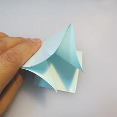 การพับกระดาษรูปดอกมอร์นิ้งกลอรี่ (Origami Morning Glory – アサガオの折り紙) 003