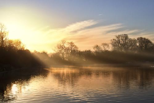 fog sunrise day