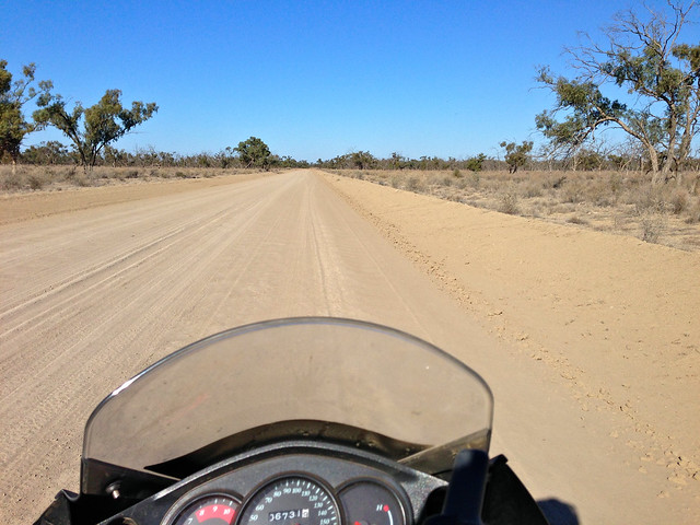 Road to Pooncarie from Menindee