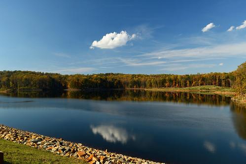 charlottesville reservoir autumn nikond5500 water lake landscape