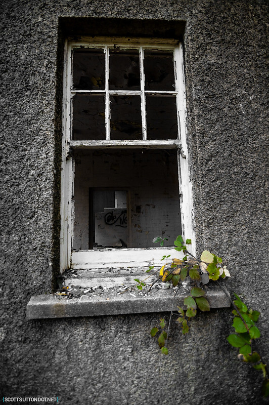 A window looking into Mountain Ash Hospital