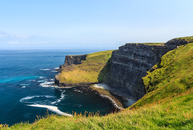 Inaccessible beach, Cliffs of Moher, Ireland