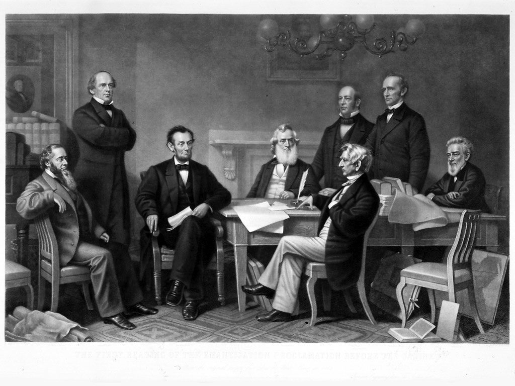 President Lincoln Cabinet Officers