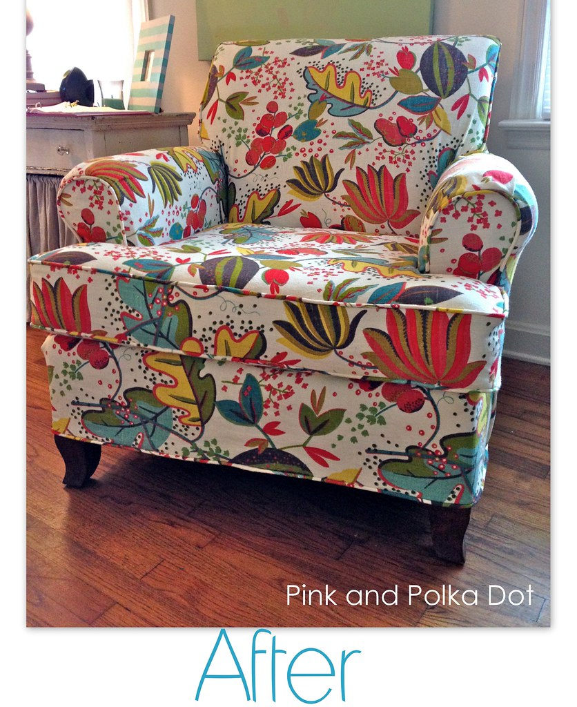 After Floral Club Chair Slipcover | The Slipcover Girl | Flickr