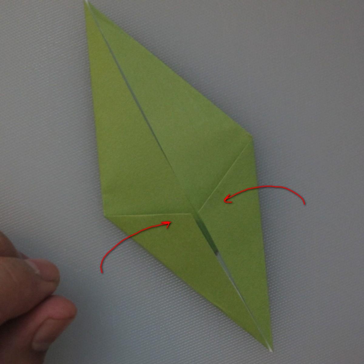 วิธีพับกระดาษเป็นดอกทิวลิป 022