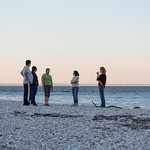 Talking on the beach