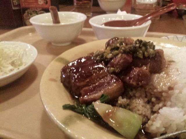 豚肉のあんかけご飯