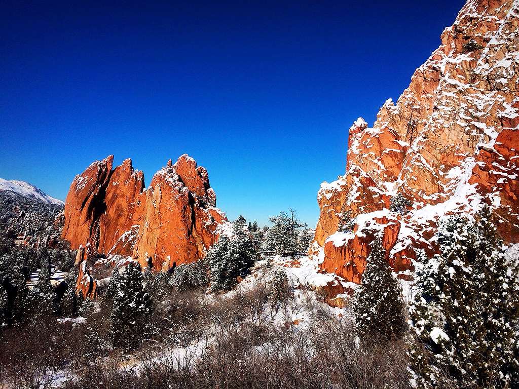 Pictures After A Recent Snowfall At The Garden Of The Gods