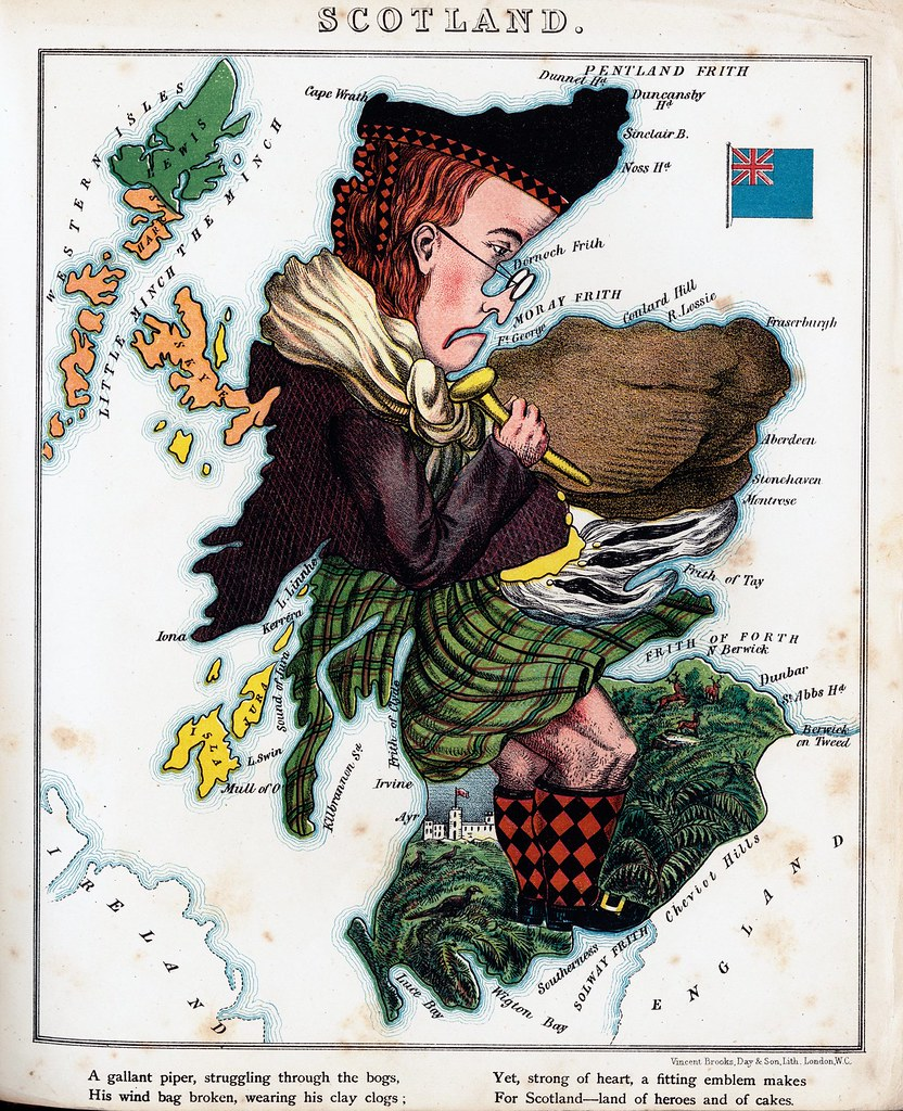 Personification of Scotland Map | Edited old map of the pers… | Flickr