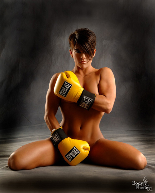 Sexy nude karate woman