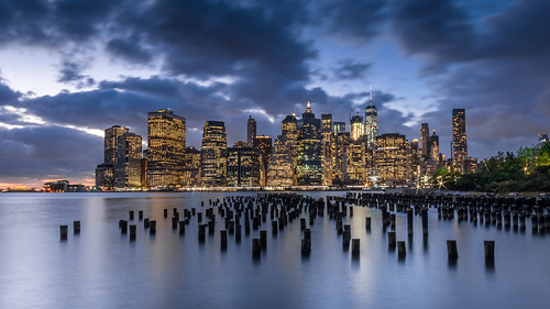 newyork sunset skyline longexposure clouds eastriver brooklyn