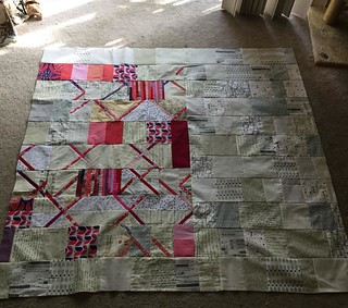 "Second quilt top from #dogoodstitches #nurturecircle trimmings. Approx 50"" sq. Guess it's time to work on some backings. 