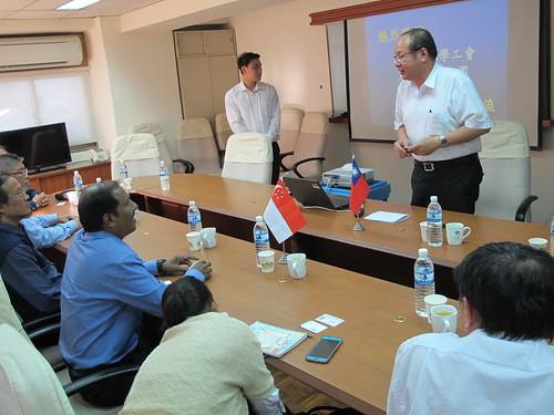 圖01.莊理事長致辭歡迎新加坡CIEU化學工會聯合會蒞訪