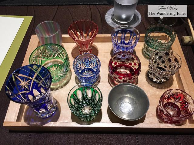 Sake cups to choose