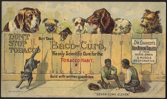 Don't stop tobacco but take Baco=Curo, the only scientific cure for the tobacco habit. [front]