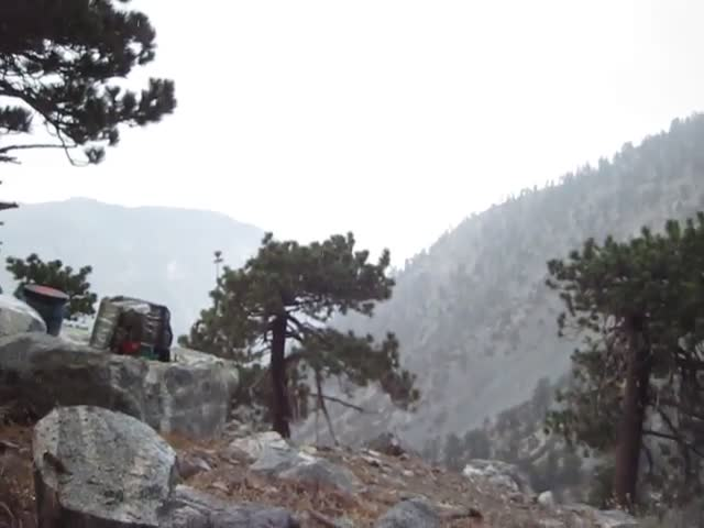 282 Video of afternoon rain from our tent above the San Antonio Ski Hut - more like drizzle than rain
