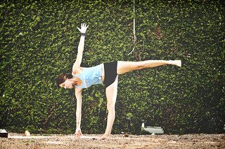 ardha chandrasana  half moon pose  amelia raun yoga