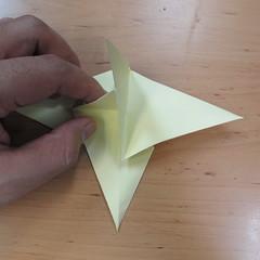 วิธีพับกระดาษเป็นดอกกุหลายแบบเกลียว 025