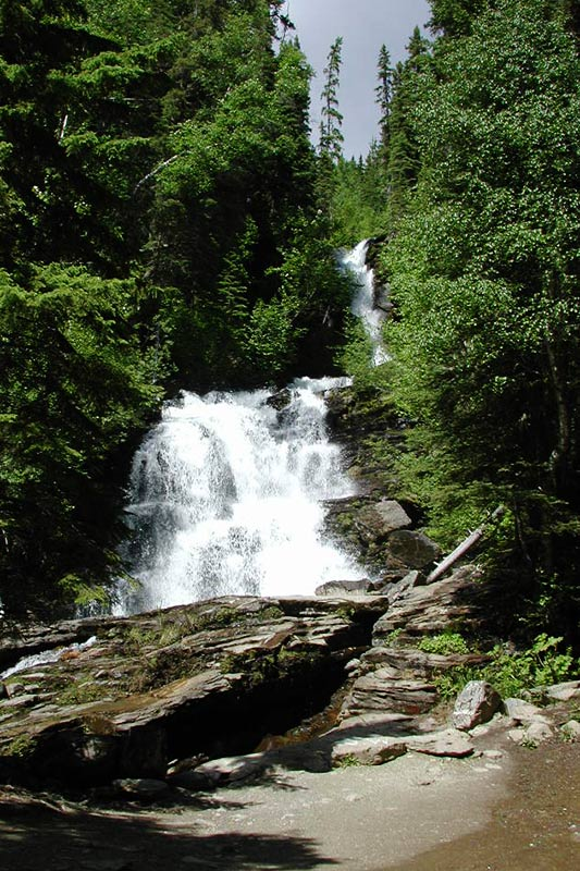Bijoux Falls, Chetwynd, Alaska Highway 97, Northern British Columbia, Canada