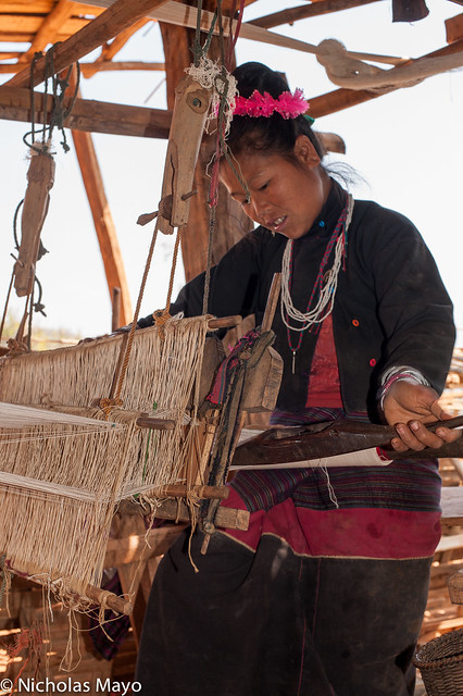 Working At The Loom