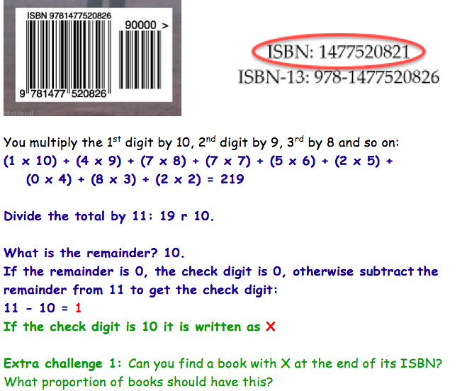 ISBN checksum investigation   I did this with year 5 today -…   Flickr