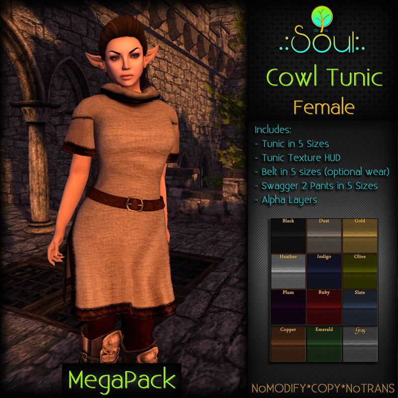 2014 Cowl Tunic - Female - MegaPack