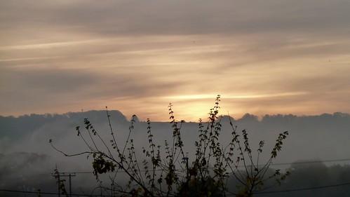 sunrise skyscape clouds mist dorset november artistic