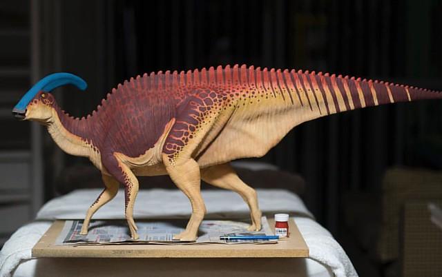 Progress on the Parasaurolophus. It seems side B will be quite a challenge to replicate. #parasaurolophus #paleoart #hadrosaur #dinosaur #dino #dinosaurs #jurassicpark #jurassicworld #scalemodel #modelbuilder #sculpture #art #naturalhistory #paleontology