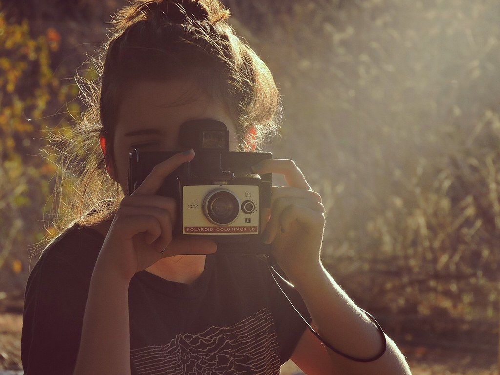 ''On holiday, with a broken camera...''