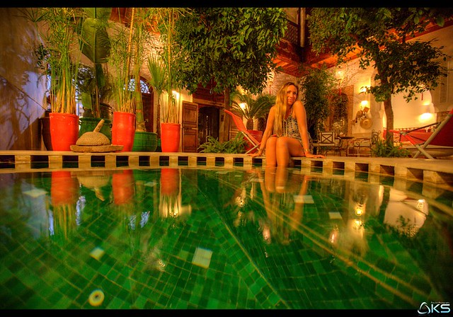 In the quiet of the riad