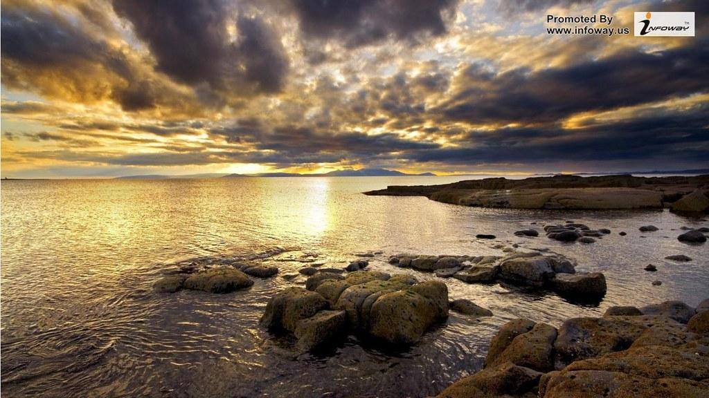 Beautiful Sea Storm Clouds Windows Wallpaper Beautiful Sea