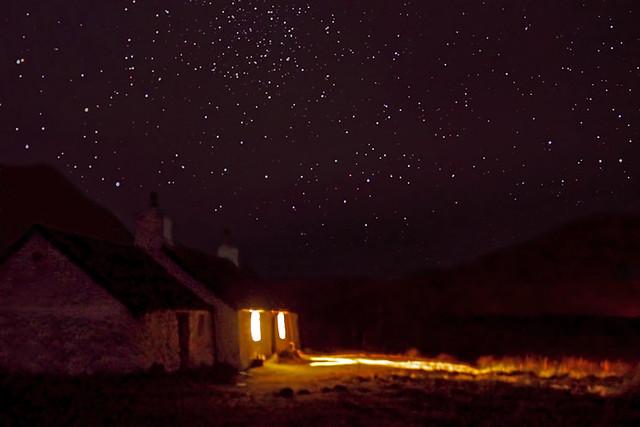 Stargazing at Black Rock Cottage, Glencoe, Scotland