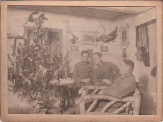 German officers celebrate Christmas (9:30 pm, 25 December, 1917)