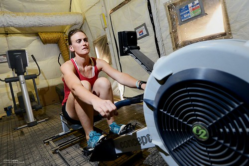 Olympic Gold Medallist Captain Heather Stanning Keeping Fit During her Deployment to Afghanistan | by Defence Images